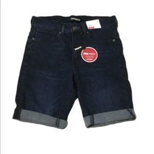 NWT Express Blue Denim Bermuda Shorts Size 2